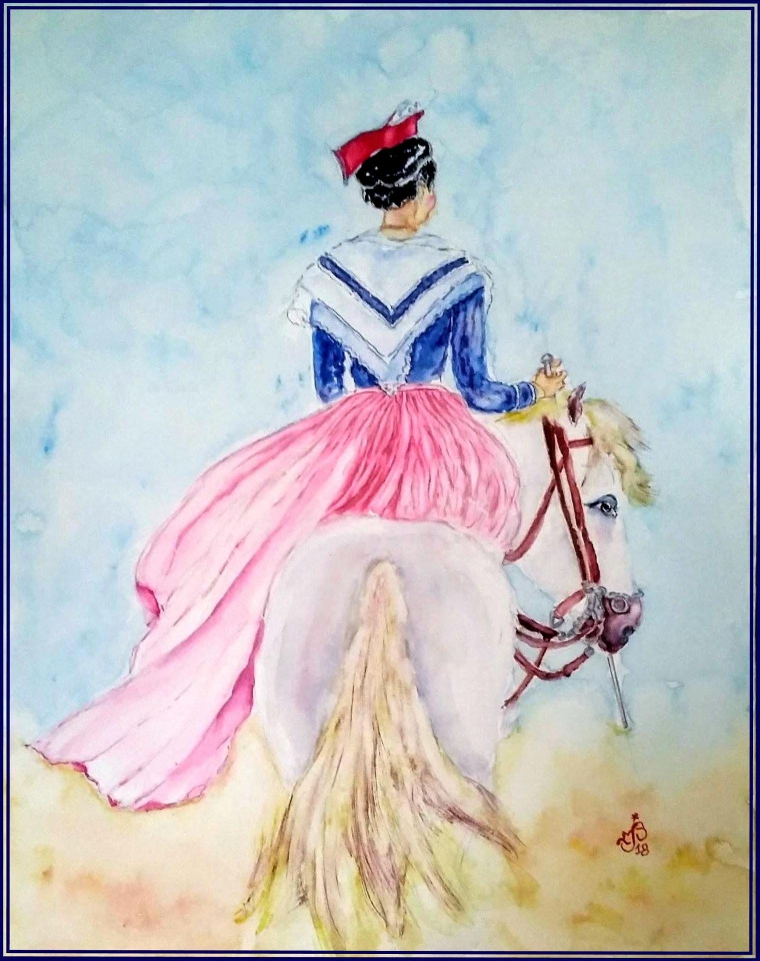 Arlésienne cheval