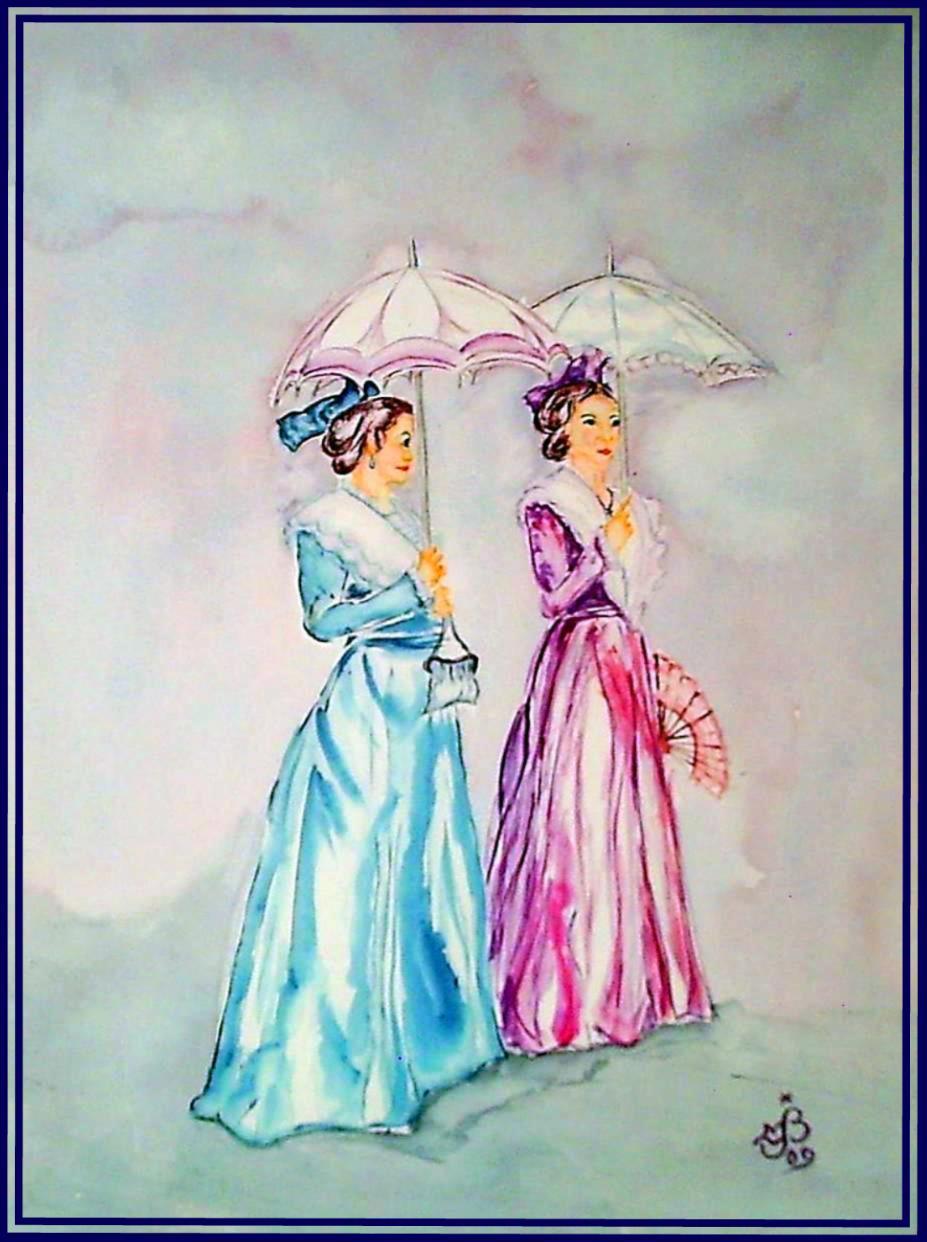 Arlésiennes aux ombrelles