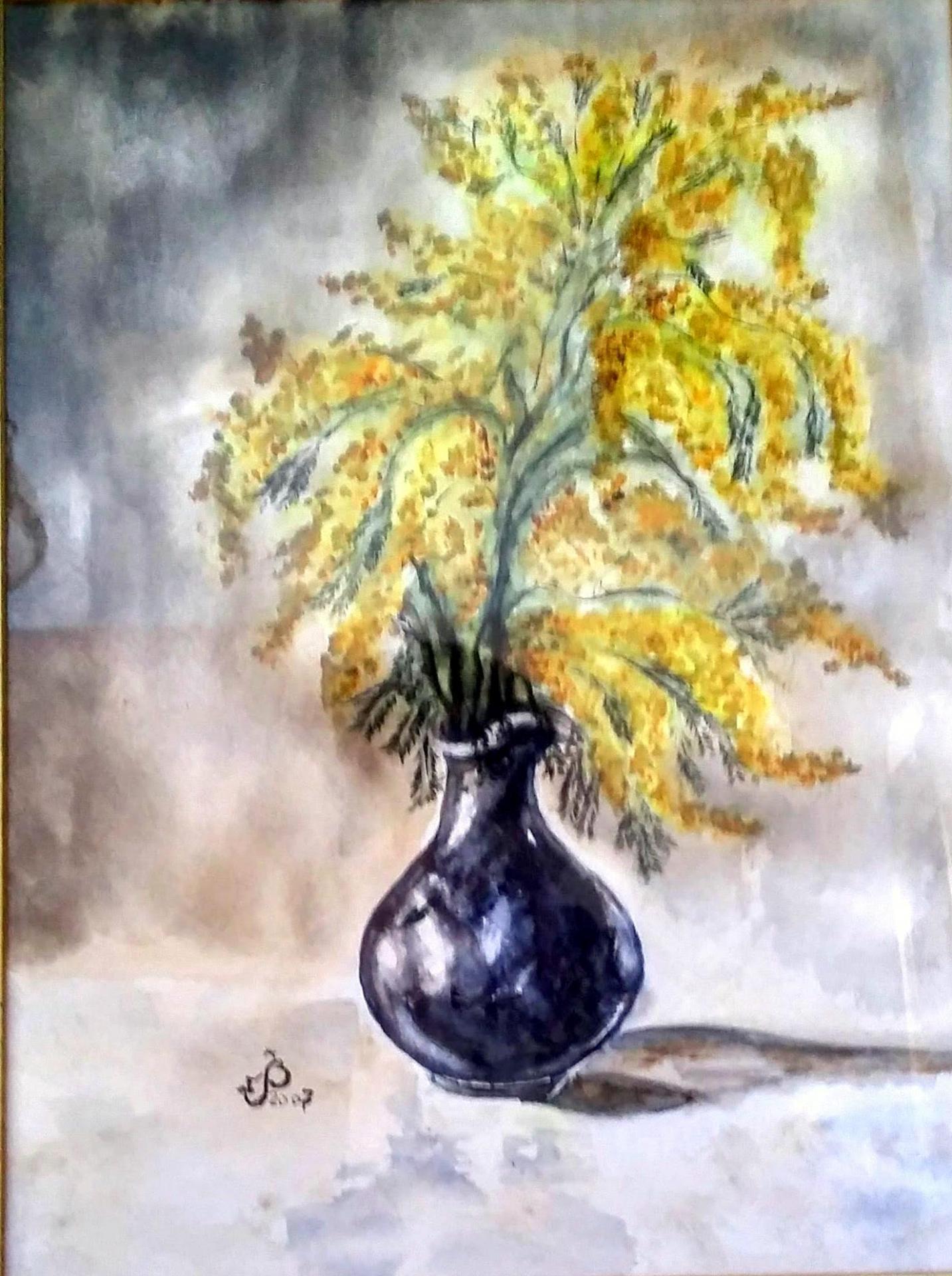 Mimosa vase