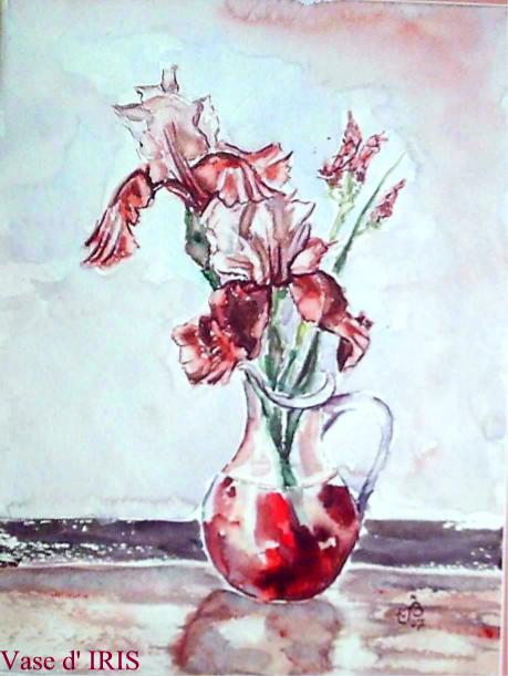 Vase d iris