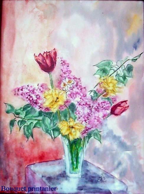Vase fleurs printemps