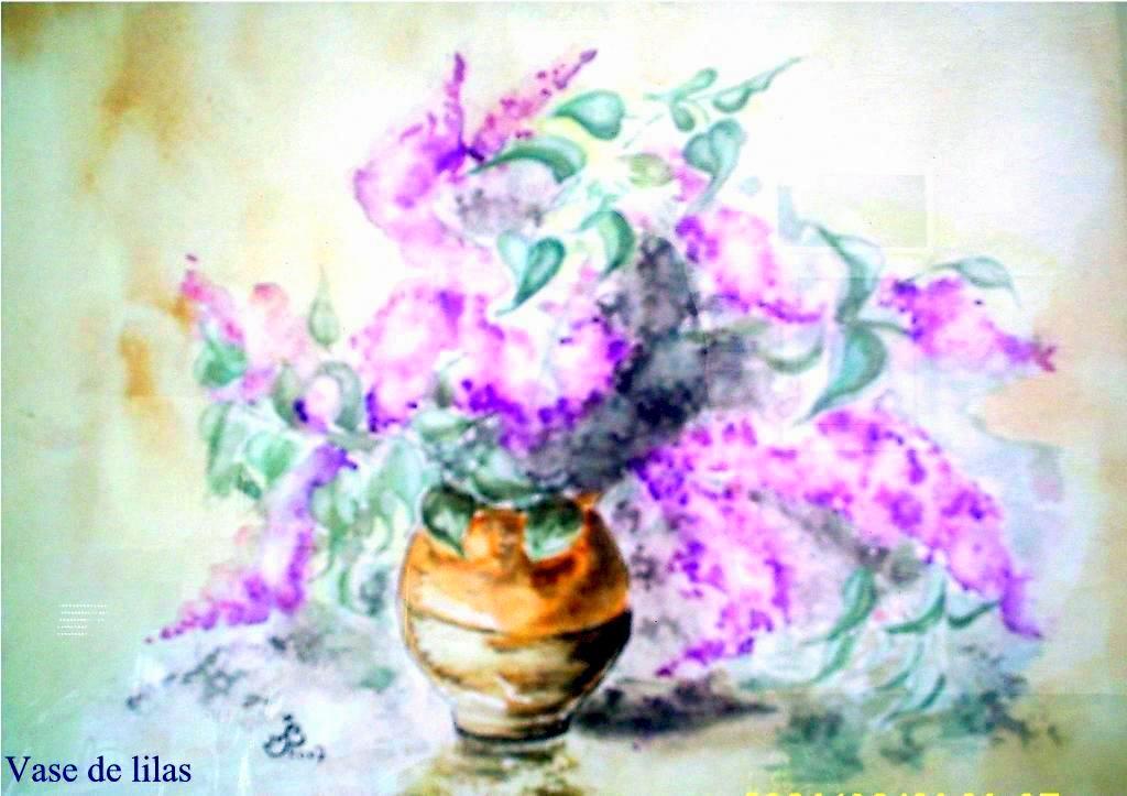 Vase lilas